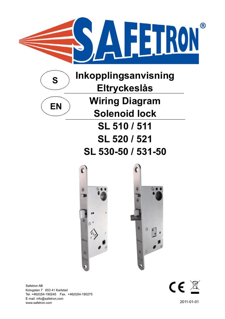Manual Eltryckesl U00e5s Sid 1