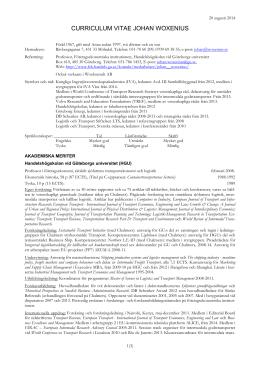 Ladda ner CV som pdf - Företagsekonomiska institutionen