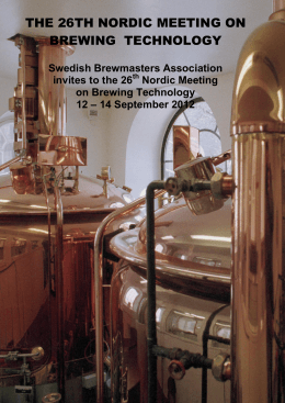 The 26th Nordic meeting - Sveriges Bryggmästare Förening