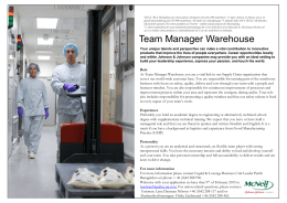 Team Manager Warehouse