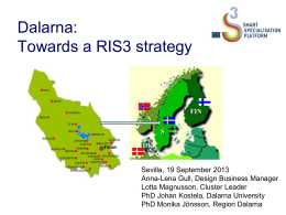 Dalarna: Towards a RIS3 strategy