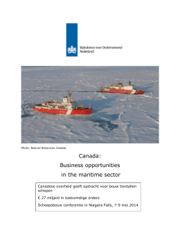 Canada: Business opportunities in the maritime sector