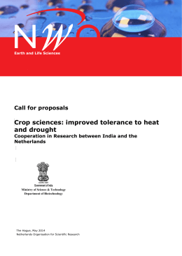 improved tolerance to heat and drought | call for proposals