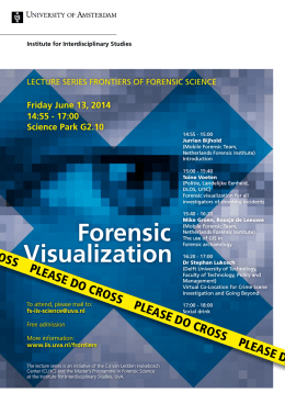 Forensic Visualization