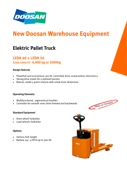New Doosan Warehouse Equipment