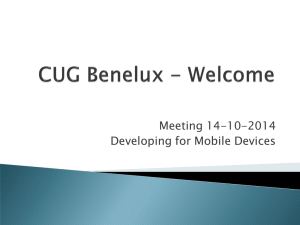CUG Benelux - Welcome