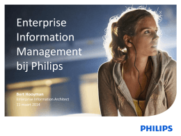 Enterprise Information Management bij Philips