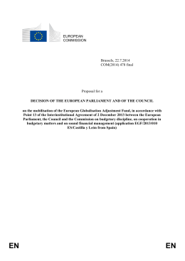 Proposal for a Decision of the European Parliament and of the