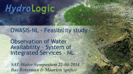 OWASIS-NL - Feasibility study Observation of Water