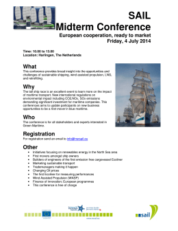 draft Programme midterm conference European