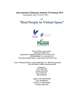 Real People in Virtual Space