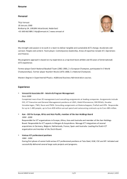 Resume Personal Profile Experience