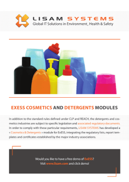 EXESS COSMETICS AND DETERGENTS MODULES