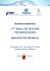 2ND HALL OF WATER TECHNOLOGIES REGIÓN DE MURCIA