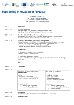 Supporting innovation in Portugal - Programme