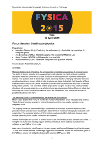 TU/e 10 April 2015 Focus Session: Small-scale physics