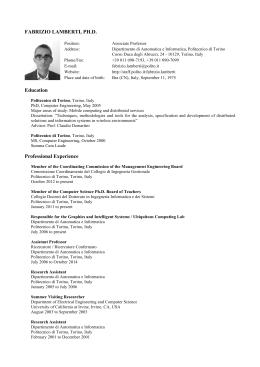 FABRIZIO LAMBERTI, PH.D. Education Professional Experience