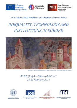 INEQUALITY, TECHNOLOGY AND INSTITUTIONS IN EUROPE