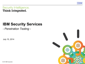 IBM Security Services - Penetration Testing