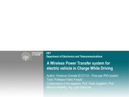 A Wireless Power Transfer system for electric vehicle in Charge