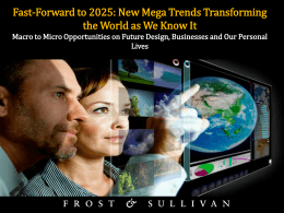 Global Mega Trends and Impact on Future of Mobility