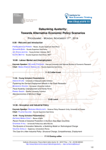 final programme - Debunking Austerity – Towards Alternative
