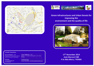 Green Infrastructures and Urban forests for Improving the