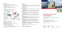 event flyer - Climate Change 2013: The Physical Science Basis