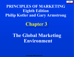 Chapter 3: The Marketing Environment