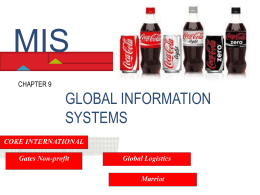 Chapter 9 Global Information Systems