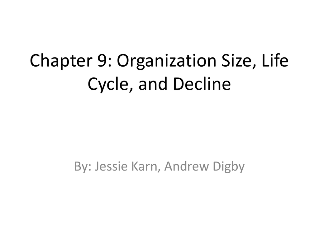 Organization Size, Life Cycle and Decline