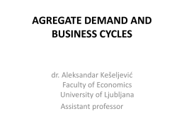 Lecture No. 3: AGREGATE DEMAND