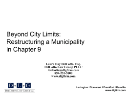 Restructuring a Municipality in Chapter 9