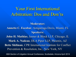 Arbitration v. Litigation - American Bar Association