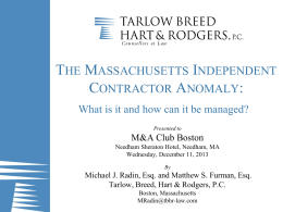 clicking here - Tarlow, Breed, Hart & Rodgers, P.C.