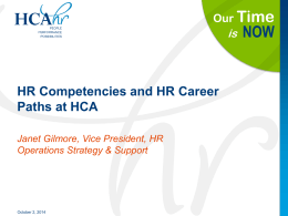 HR Competencies and Career Paths