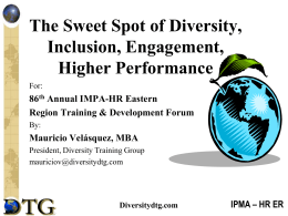 The Sweet Spot of Diversity, Inclusion, Engagement, Higher