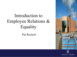 Employee Relations & Equality Team