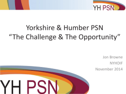 YHPSN The Challenge and the Opportunity