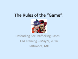 Sex Trafficking Powerpoint (PPT)
