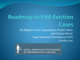 Roadmap to FHA Eviction Cases Images