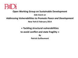 Tackling structural vulnerabilities to avoid conflict and state