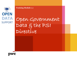 What is Open Government Data?
