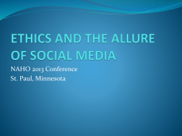 ethics and the allure of social media