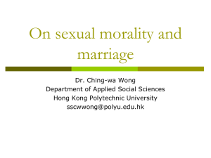 Discussion on sexual morality and marriage
