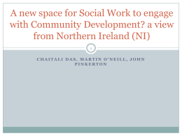 Re-engaging community development in social work