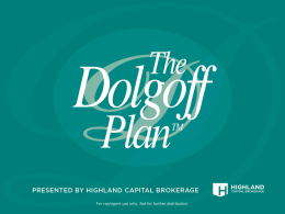 Dolgoff Plan Overview