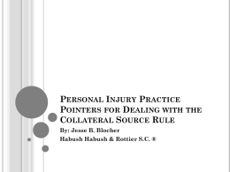 Personal Injury Practice Pointers for Dealing