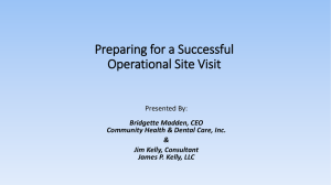 Preparing for a Successful Operational Site Visit