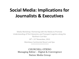 Media Convergence & adherence to journalistic ethics